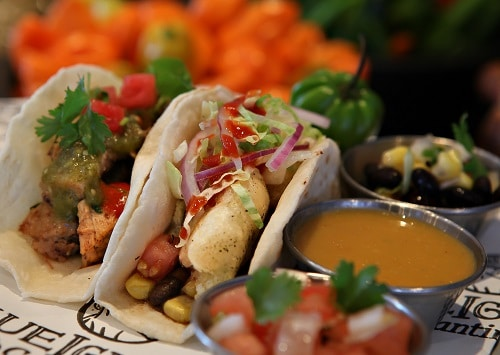 deliciously fresh tacos from blueiguana cantina
