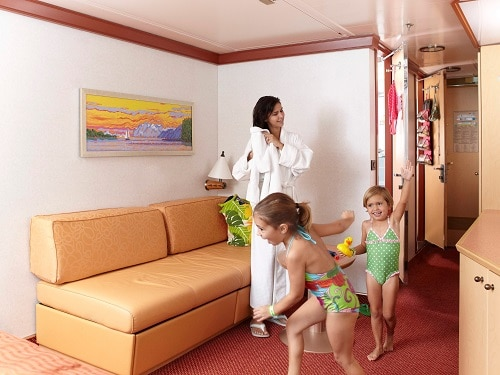 mother getting ready to go to the pool with her 2 daughters
