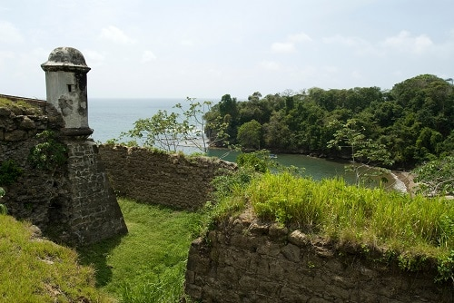 old stone walls in colon panama