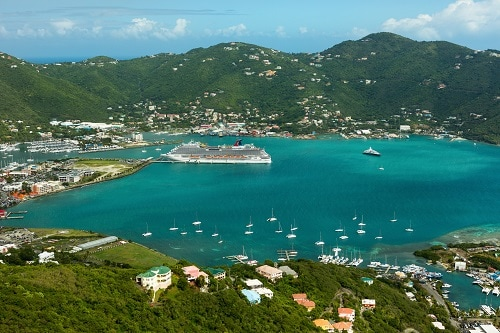 carnival breeze in tortola