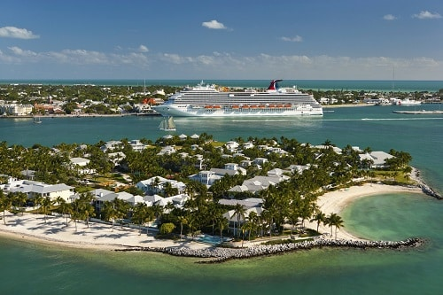carnival ship docked in key west