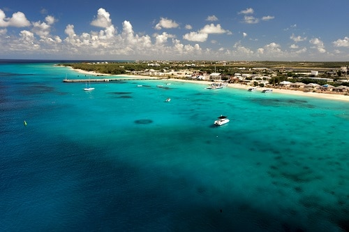 blue waters along grand turk beach