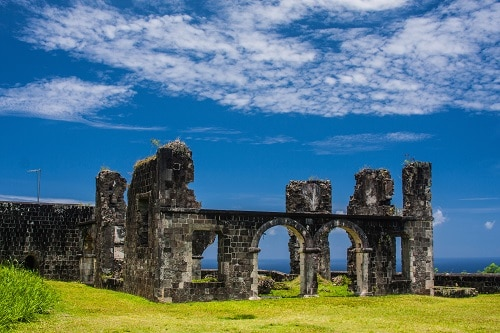ruins in st kitts