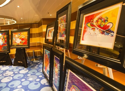 an art exhibition onboard a carnival ship