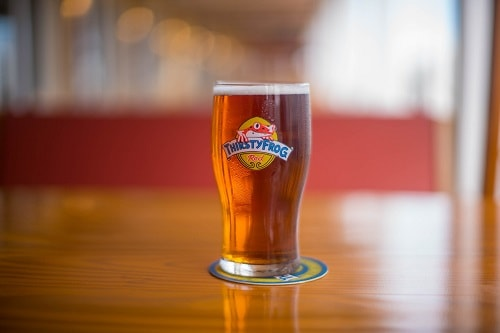 thirstyfrog red brew in a glass