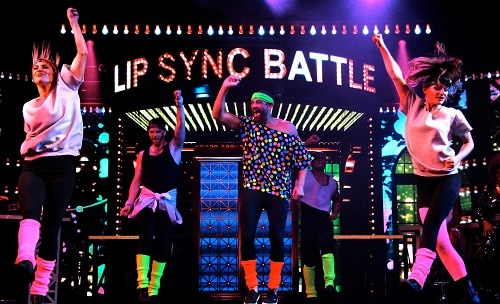 a game of lip sync battle happening onboard a carnival ship