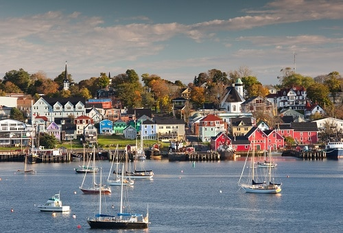 a harbor view of nova scotia