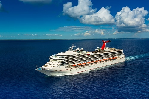 an aerial view of carnival sunrise