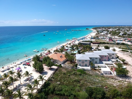the coast line of grand turk