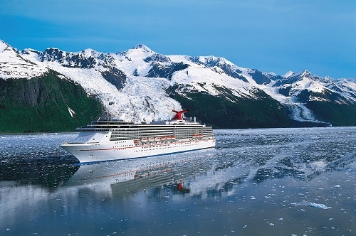 a carnival cruise ship sailing to alaska
