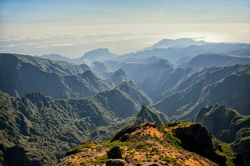 a panoramic view of the mountains in portugal