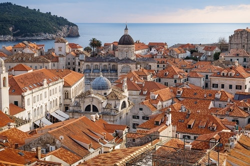 an aerial view of dubrovnik's old town