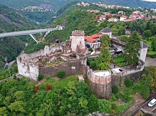 an aerial view of trsat castle in rijeka