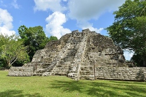 ancient mexican ruins in costa maya