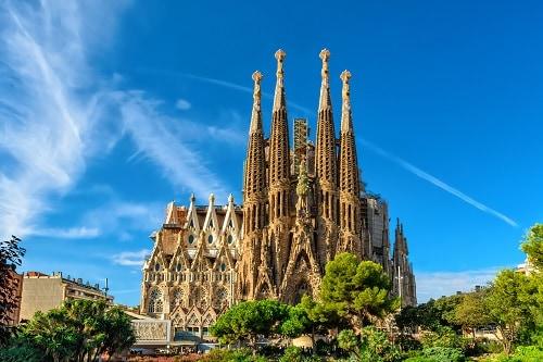 la sagrada famila in barcelona, spain