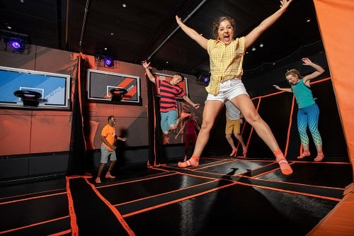 people having fun at sky zone onboard carnival panorama