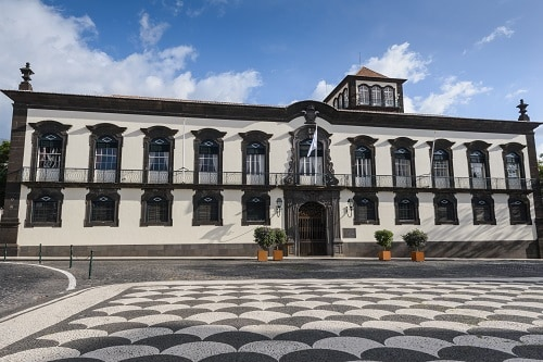 the main town square in funchal, portugal