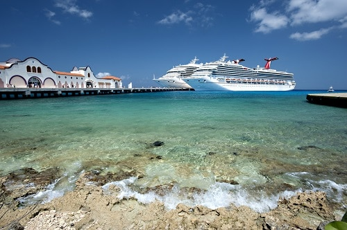 two carnival ships at the cozumel port