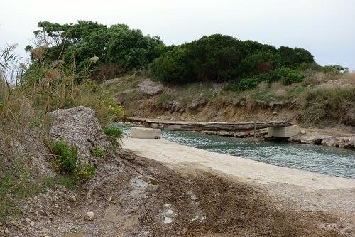 a foot bridge along the corfu hiking trail