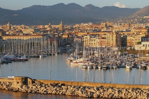 a harbor in palermo italy