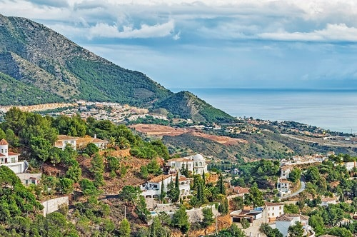a hillside view of mijas in spain