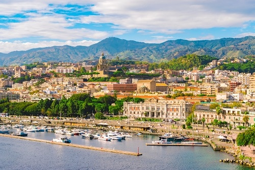 a panoramic view of messina, italy