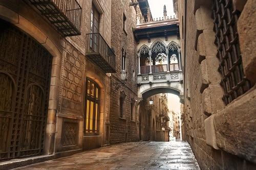 a part of barcelona's famed gothic quarter