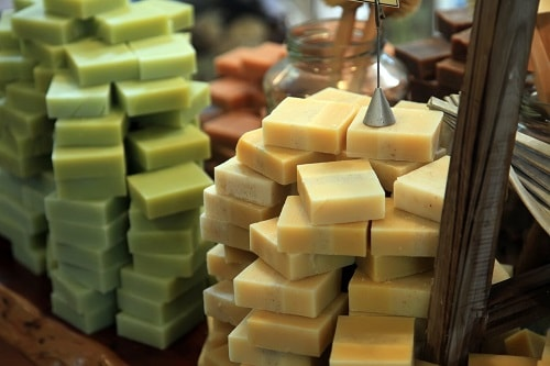 a selection of olive oil soap