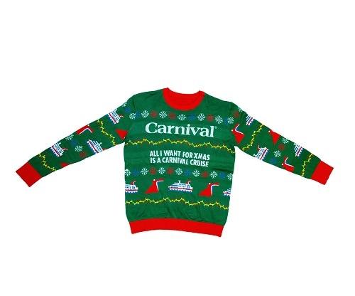 carnival ugly cruisemas sweater