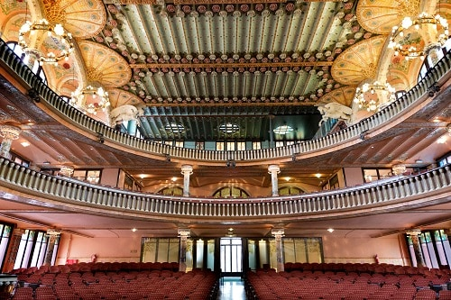 inside the palace of catalan music