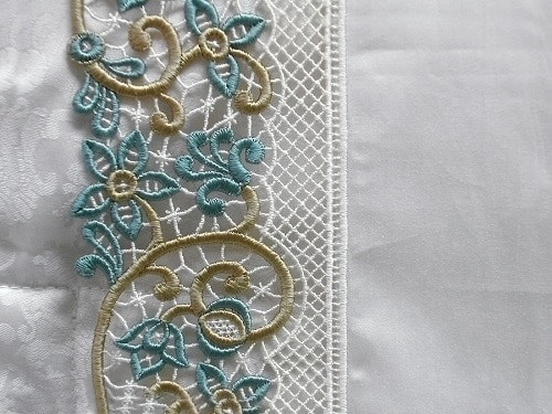 intricate pillow embroidery from palermo, italy