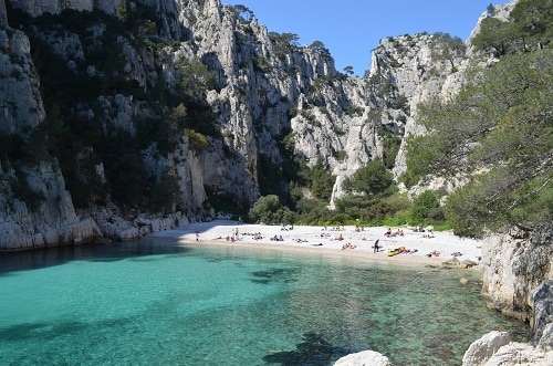 the beach at calanques national park