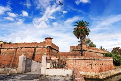 the exterior of the fortezza nuova in livorno, italy