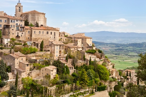 a view of gordes in the provence region of france