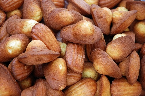 a pile of madeleines, ready to eat