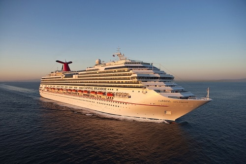 carnival splendor sailing across the ocean