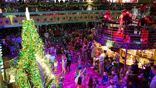 let it snow holiday party onboard a carnival ship