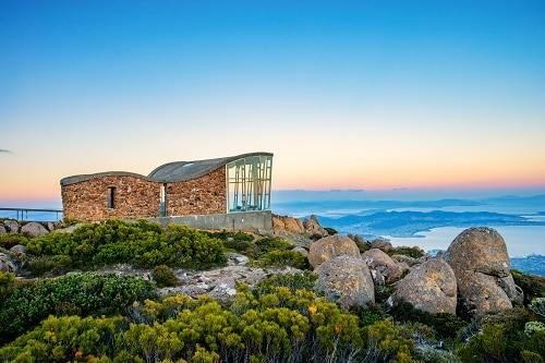 mount wellington in hobart, tasmania in australia