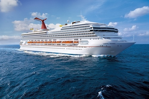 an aerial view of carnival radiance