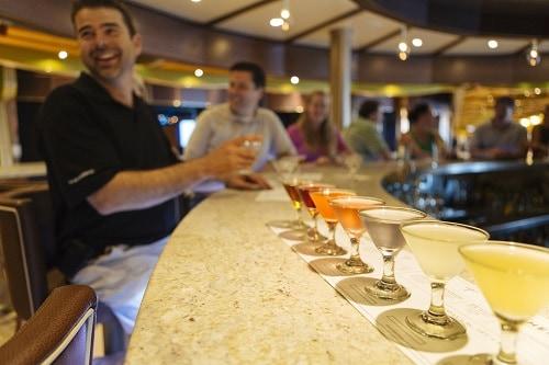 martini taste testing at alchemy bar