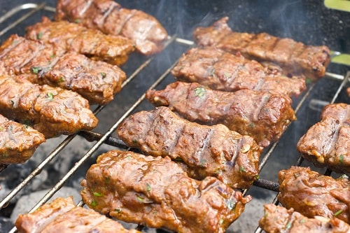 a traditional lamb dish on the grill