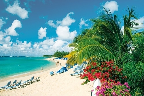 a beautiful day at the beach in grand turk