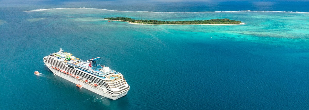 Carnival Splendor cruising the South Pacific Islands