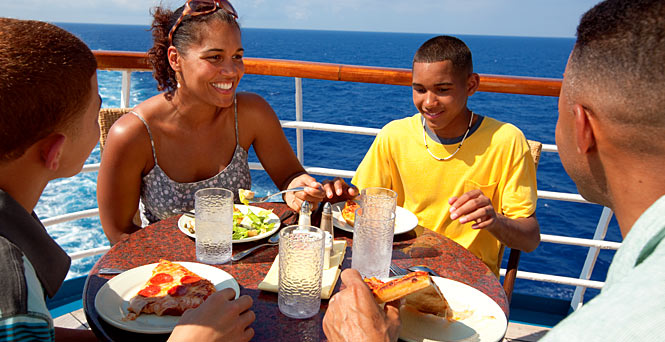 Carnival casual dining options cruise food carnival for Cruise ship with best food