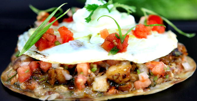 You don't have to be a rancher to eat brunch like one. (Huevos Rancheros)