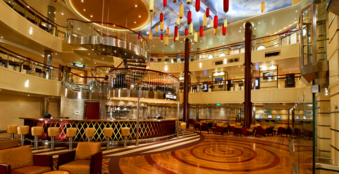 Atrium bar carnival bars and clubs carnival cruise lines for 1 2 3 4 get on the dance floor lyrics