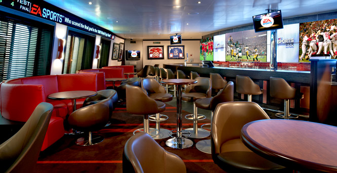 Get into the action here. (EA SPORTS Bar)