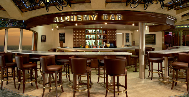 Step into our cocktail apothecary. (Alchemy Bar)