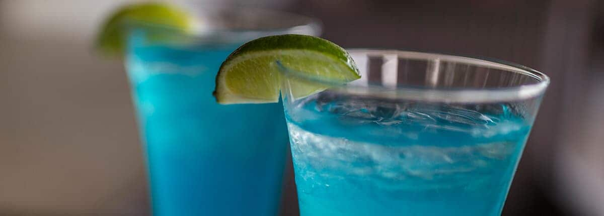 Blue Margarita with a lime