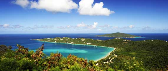 Exotic Destinations - view of magens bay in st.thomas island